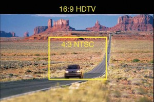 Comparatie a formatului 4:3 SDTV (PAL / NTSC) cu formatul 16:9 High Definition Image